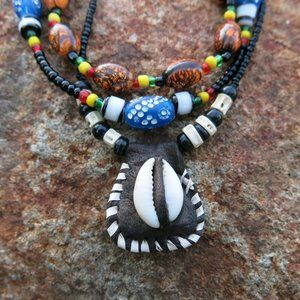 3 African Necklaces